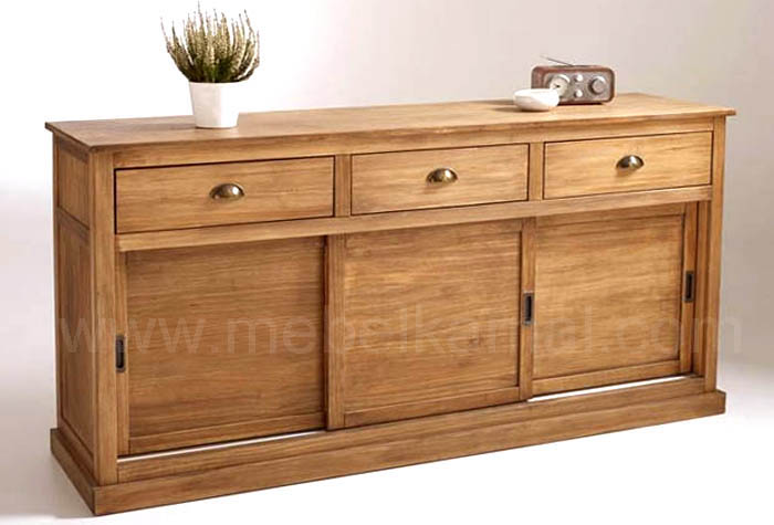 mebel jepara bufet jati minimalis pintu geser tersedia berbagai ukuran. Black Bedroom Furniture Sets. Home Design Ideas